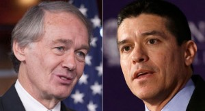 Ed Markey and Gabriel Gomez